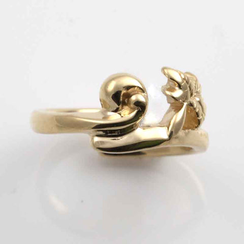 Wave Palm Tree Toe Ring YG