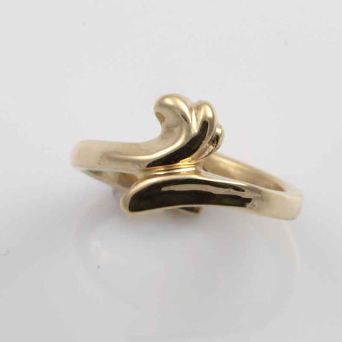 Wave Toe RIng - 10K Yellow gold