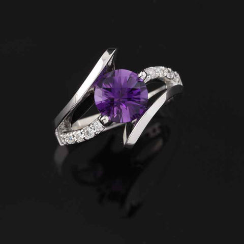 Amethyst By Pass Ring
