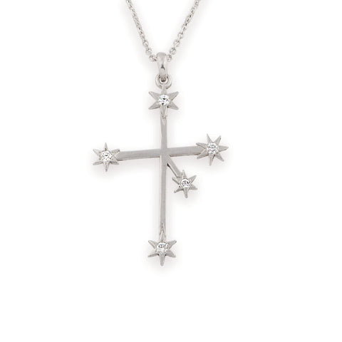 Southern Cross Pendant - Gold Diamond