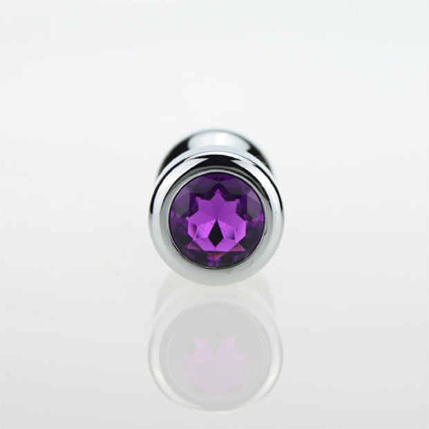 Metal Crystal Anal Plug Stainless Steel