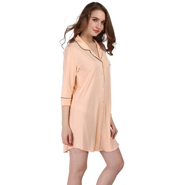 Cotton Nightgowns Soft Home Dress