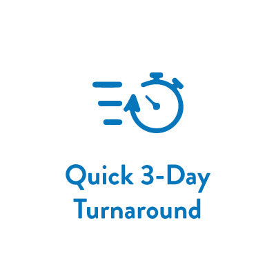 Turnaround 3 Day Orders