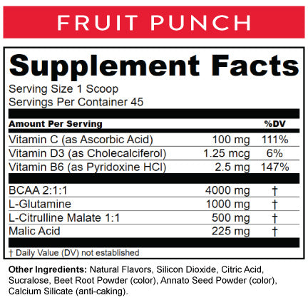 Fruit Punch Nutritional Info