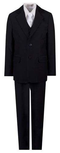 Navy Slim Communion Suit Featuring Handmade Religious Cross Neck Tie - The Christening Cottage