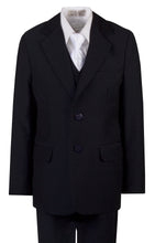 Load image into Gallery viewer, Navy Slim Communion Suit Featuring Handmade Religious Cross Neck Tie