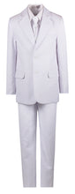 Load image into Gallery viewer, White Slim Communion Suit Featuring Handmade Religious Cross Neck Tie - The Christening Cottage