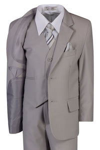 Boys Traditional Fit 5 Piece Suits Available in 5 Colors - The Christening Cottage
