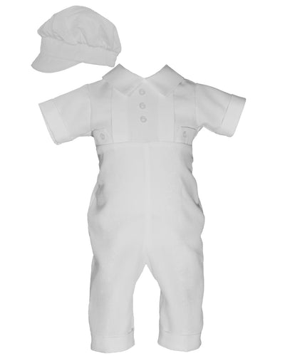Baby Boys Waffle Pique Christening Outfit | Newborn to 12 Months - The Christening Cottage