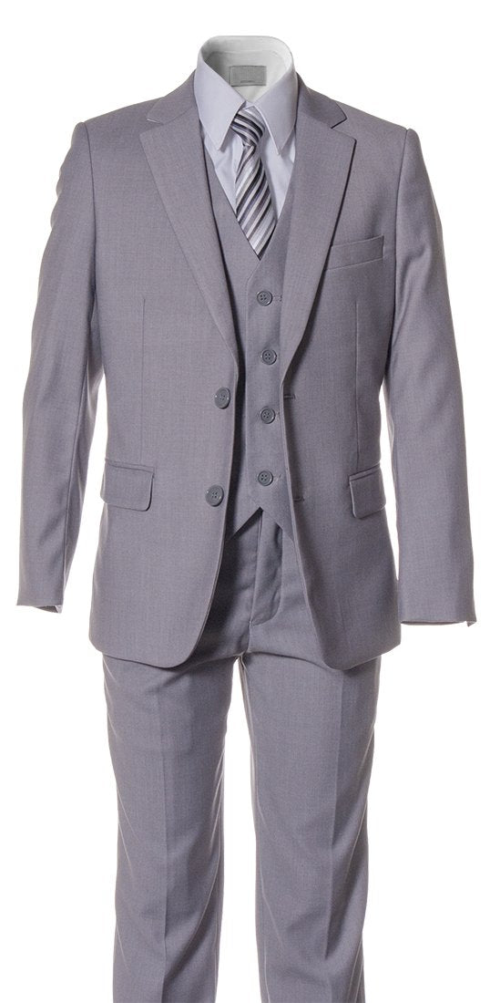 Boys Slim Fitting Suits by Fouger USA in Several Colors - The Christening Cottage