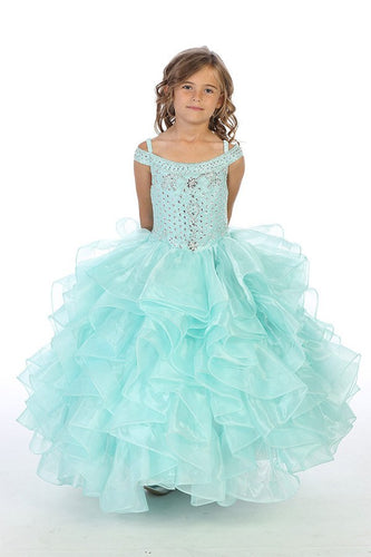 Girls Organza Pageant Dress in 4 Beatiful Colors Sizes 2T-16 - The Christening Cottage