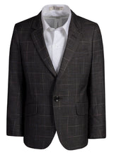 Load image into Gallery viewer, Fouger Boys Checkered Slim Fit Designer Suit with Khaki Pants