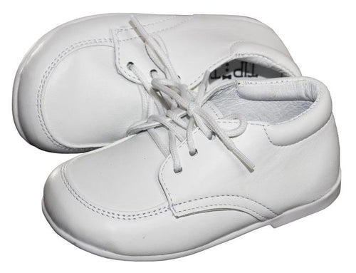Infants Matte White Dress Shoes in Newborn & Baby Sizes - The Christening Cottage