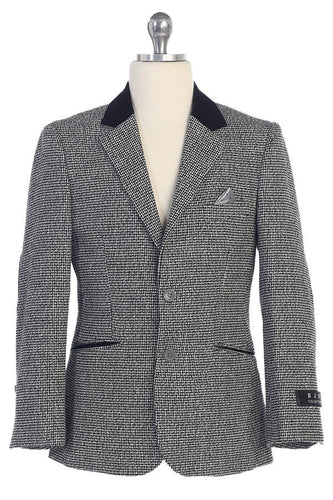 Boys Houndstooth Blazer Jacket Sizes 4-20 - The Christening Cottage