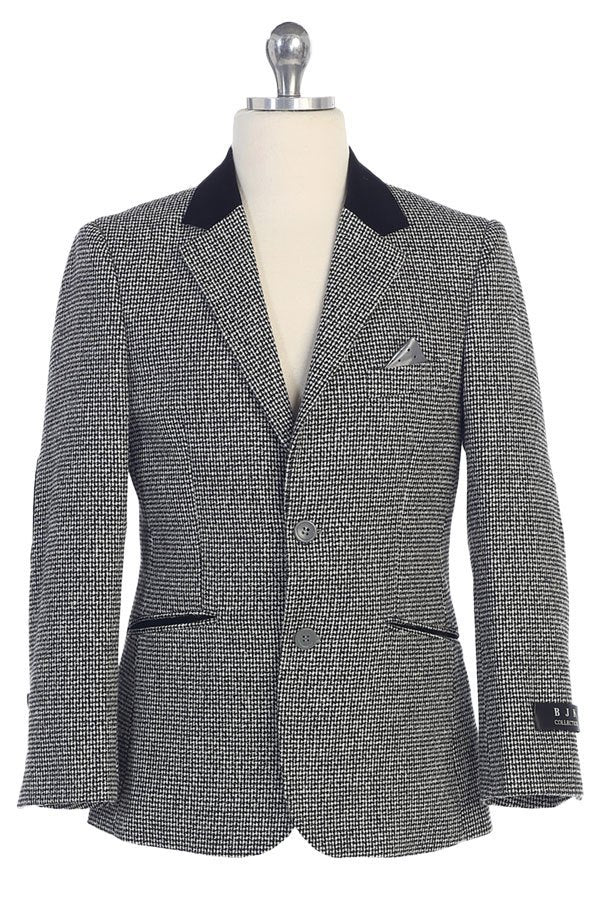 Boys Designer Houndstooth Blazer Jacket Sizes 4-20 - The Christening Cottage