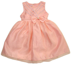 Girls Blush Organza Beaded Dress Available in Toddler-Youth Sizes - The Christening Cottage