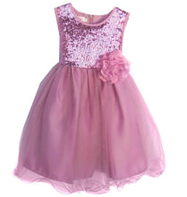 Load image into Gallery viewer, Girls Dusty Rose Tulle Sequin Dress in Toddler-Youth Sizes - The Christening Cottage