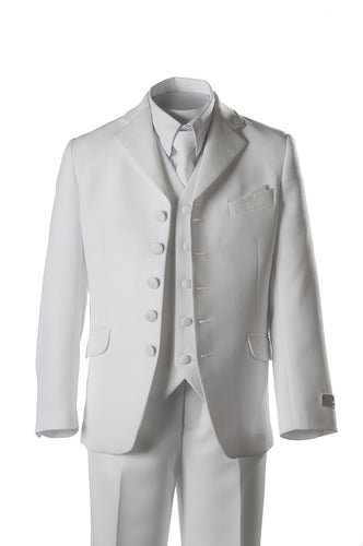 BJK White 5-Button First Holy Communion Suit - The Christening Cottage