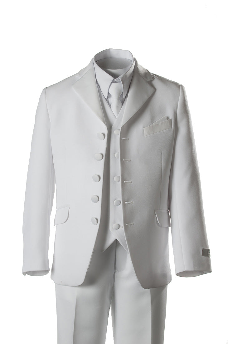 BJK White 5-Button First Holy Communion Suit