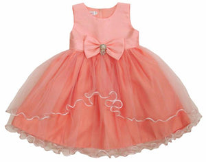 Girls Bridal Pink Tulle Dress Available in Newborn-Youth Sizes - The Christening Cottage