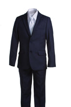 Load image into Gallery viewer, Boys Navy Blue Communion Suit with Religious Cross Neck Tie (Slim & Husky) - The Christening Cottage