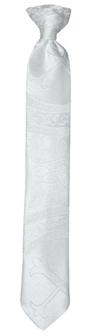 Handmade White Clergy Pattern Neck Tie