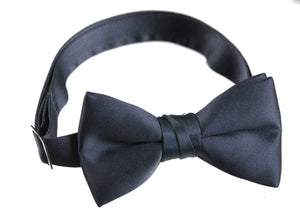 Boys Navy Blue Pre Tied Adjustable Bow Tie - The Christening Cottage
