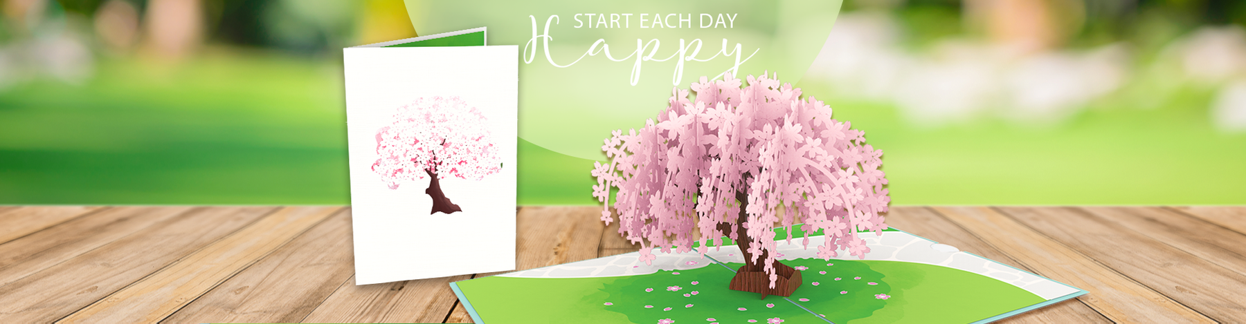 Cherry Blossom Pop Up Cards to celebrate International Peace of Day