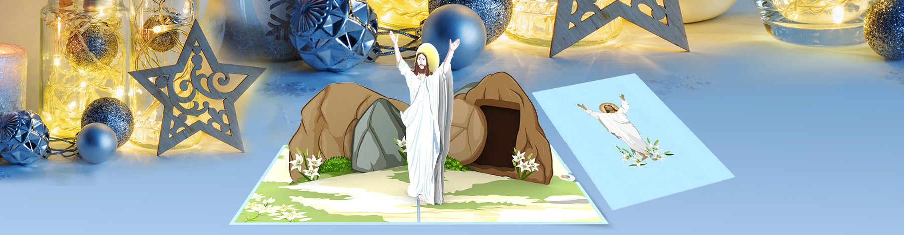 CP046 Christ is risen Blog pop up card easter