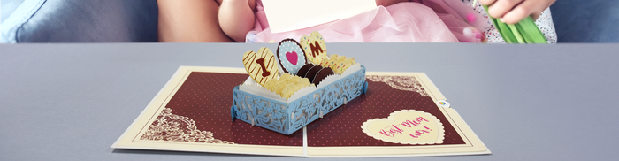 Love Cakes for Mom Blog 3D card for mothers day