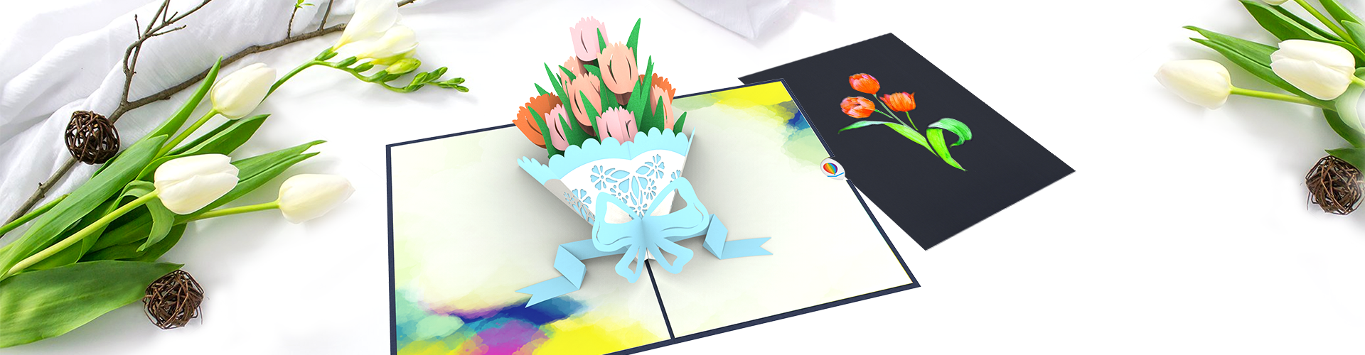 Condolence message to a friend meaningful by tulip 3D card