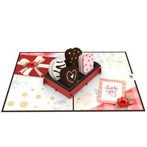 3D I Love You Card Template love chocolate