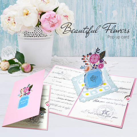 Beautiful-flower-pop-up-card