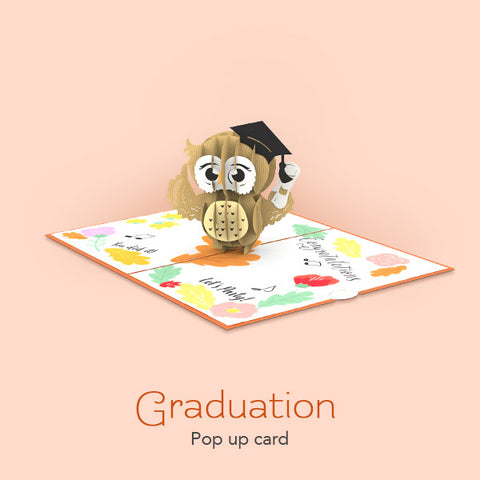 Graduation pop up card image