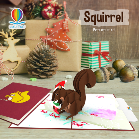 How to say thank you with Squirrel pop up card