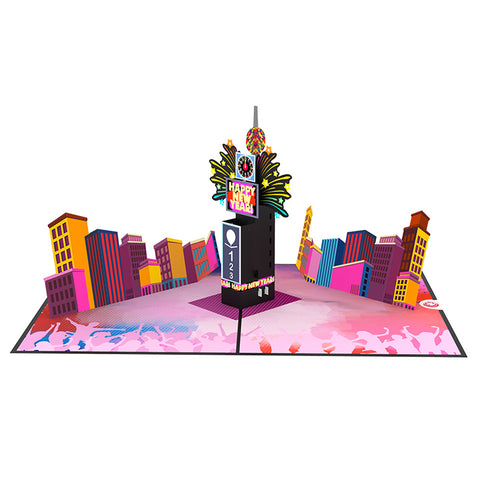 time square new york eve pop up card