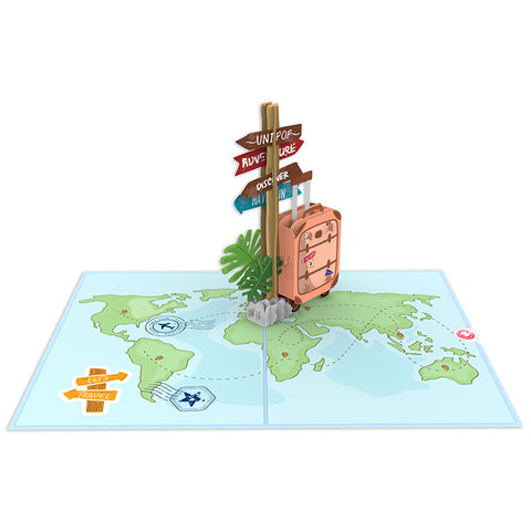 Travelling 3d pop up card template Model