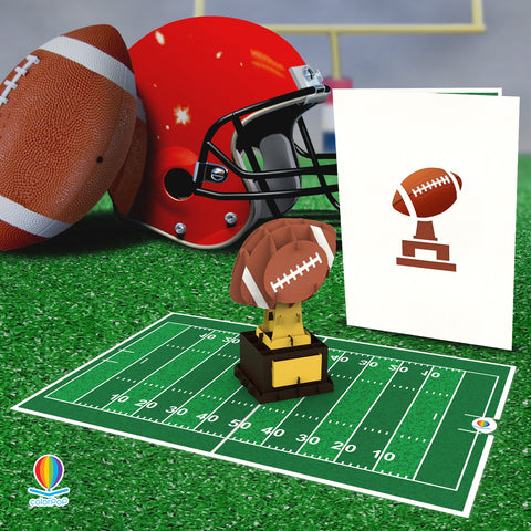 american football Model Pop up card for boyfriend Social