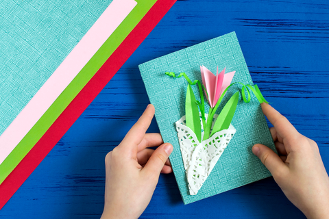 how to make 3d card for mother's day flower