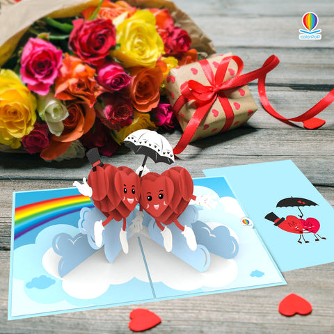 i love you pop up card Love Beat
