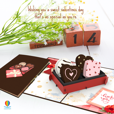 i love you pop up card Love Chocolate