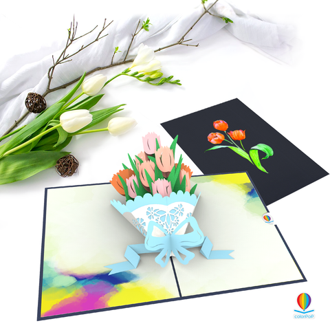 tulip 7 flower pop up card