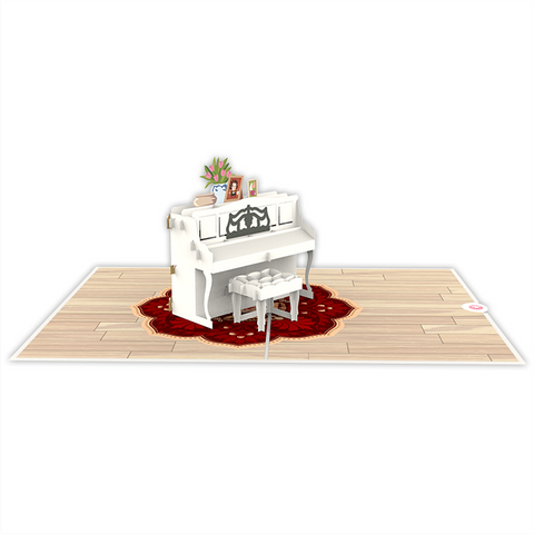upright piano 3D pop up card template Model