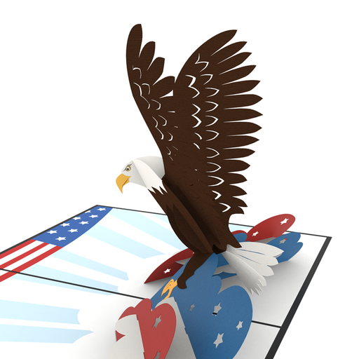 Bald Eagle pop up card model