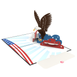 Bald Eagle pop up card note