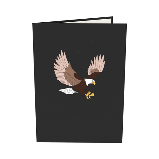 Bald Eagle pop up card outside