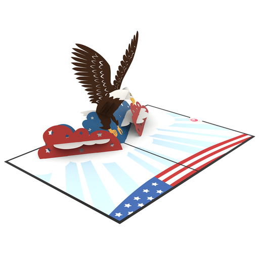 Bald Eagle pop up card thumbnail