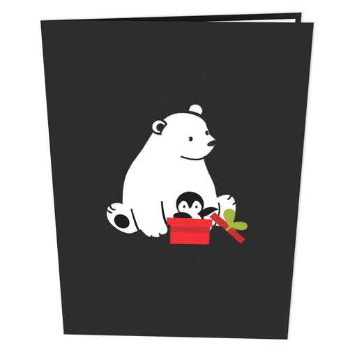 Bear And Penguins Pop Up Card Outside