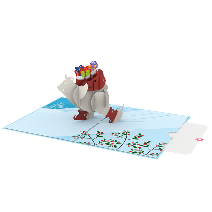 Bear With Gifts Pop Up Card