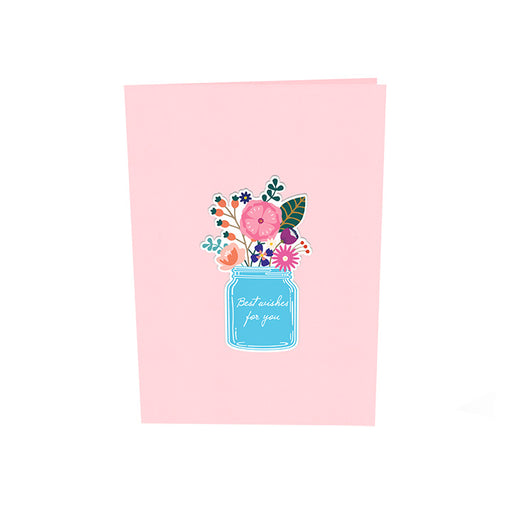 Beautiful Flowers Pop Up Card